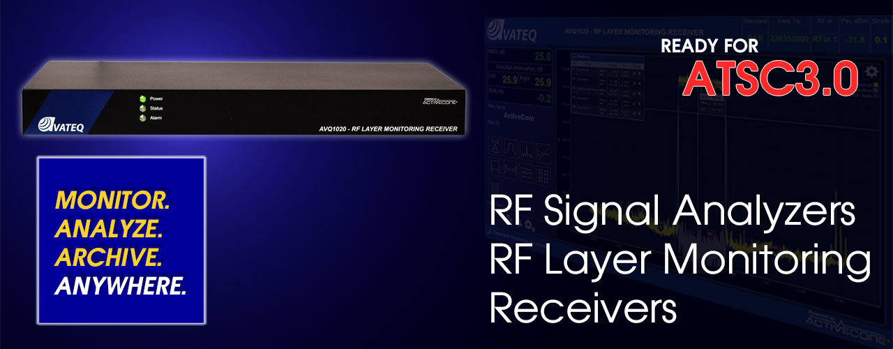 RF signal analyzers and RF layer monitoring receivers